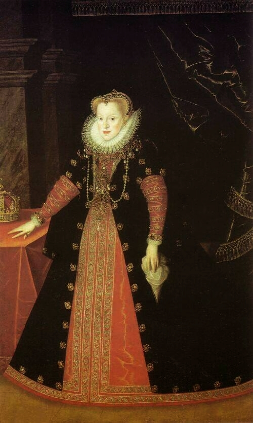 Portrait of Queen Anne of Austria (1573-1598) by Martin Kober (Alte Pinakothek - Wien Austria)