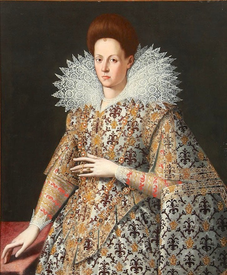 Possibly Maria de Medici, future Queen Consort of France by Frans Pourbus the Younger (auctioned by Sotheby's) From new.liveauctioneers.com/item/10203714 filled in shadows X 1.5