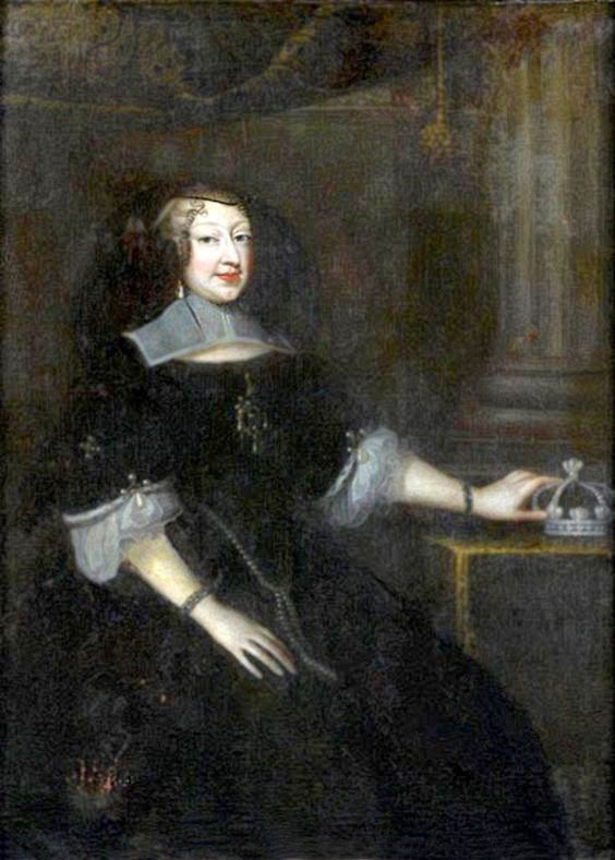 Presumed to be Anne d'Autriche, also called Christine de France, duchesse de Savoie, en habit de veuve attributed to Justus van (Verus ab) Egmont (auctioned by Tajan) From Pinterest search desflaw fixed upper and lower edges