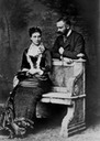 Prince and Princess Tommaso of Savoy, Duke and Duchess of Genoa. Married April 14, 1883