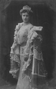 Princess Alice of Greece wearing a blouson bodice from post card