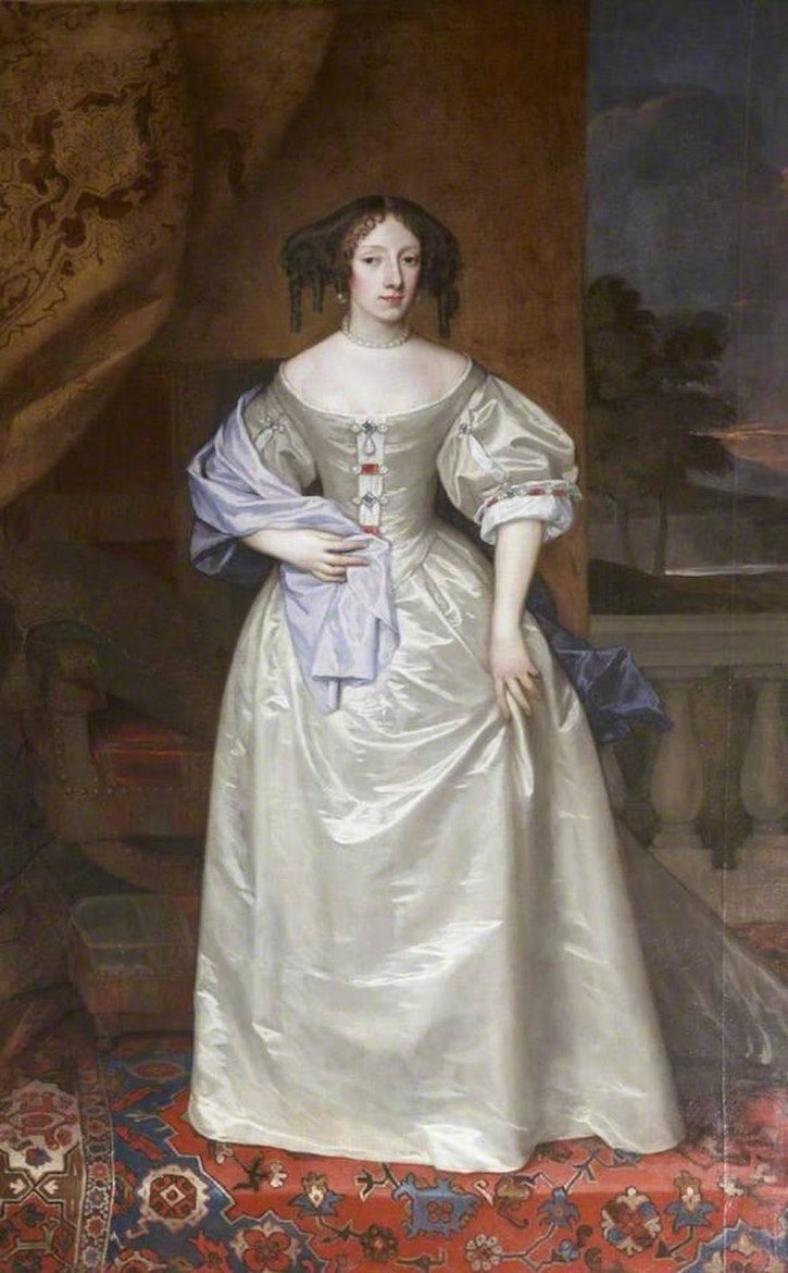 Posthumous portrait of Princess Henrietta (1644 - 1670) attributed to Sir Peter Lely (Exeter Guildhall - Exeter, Devon, UK) From pinterest.com:msbeachcomber:%7E-nobility-royalty-in-portraits-%7E: X 1.5