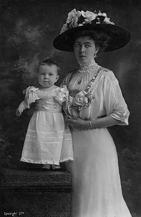Princess Margaret Connaught Crown Princess of Sweden and Baby detint despot destreak