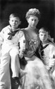 Princess Margaret of Prussia (22 April 1872-22 January 1954) wife of Prince Frederick Charles of Hesse-Kassel with her two younger children Christoph and Richard From wgabry.tumblr.com:post:41185105411:princess-margaret-of-prussia-22-april-1872-22 tri