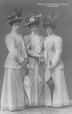 Princess Maria Immaculata of Saxony, née Princess of Bourbon-Two Sicilies and her sisters Princess Maria Cristina and Princess Maria di Grazia (Maria Pia)