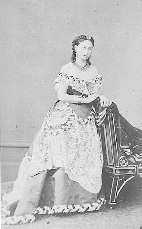 Princess Alice in elaborate gown