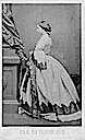 1861 Princess Alice of Britain wearing a dress with a zig-zag pattern by John Jabez Edwin Mayall