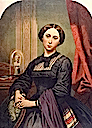 1861 Princess Alice portrait probably based on photo by or colorized photo by John & Charles Watkins