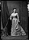 1875 Princess Alice standing wearing a bustle by Alexander Bassano