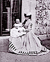 1863 Princess Alice with daughter Victoria
