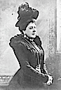 Princess Beatrice wearing a feathered hat