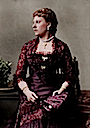 Princess Beatrice wearing dragonfly brooches colorized by AlixofHesse
