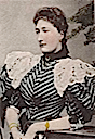 Princess Clémentine wearing lace epaulettes