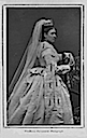 Princess Louise wearing veil and fur