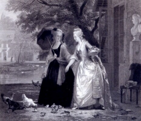 Princesse Lamballe and Marie Antoinette at the Trianon