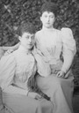 Princesses Victoria of Wales 'Toria' and her sister Maud of Wales later Queen consort of Norway