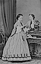 Princesses Helena (l.) and Louise (r.) by Mayall whole card