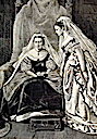 Princess Louise helping Queen Victoria