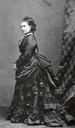 Princess Royal Victoria wearing a first bustle period dress