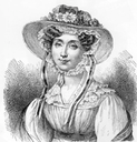Queen Adelaide wearing a flowered hat