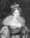 Queen Adelaide black and white print
