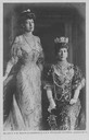 Queen Alexandra of Britain with her daughter Princess Victoria Miss Mertens detint X 1.5