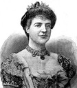 Queen Amélie of Portugal black and white print