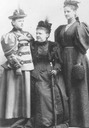 Queen Emma, her daughter Queen Wilhelmina and her sister Elisabeth princess of Waldeck-Pyrmont married to Alexander of Erbach Schonberg