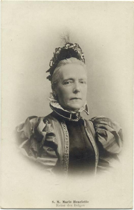 Older Queen Maria Hendrika Of Belgium Post Card Grand