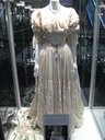 Queen Victoria's wedding dress used in filming Young Queen Victoria on display at Victoria Mall in Sydney NSW