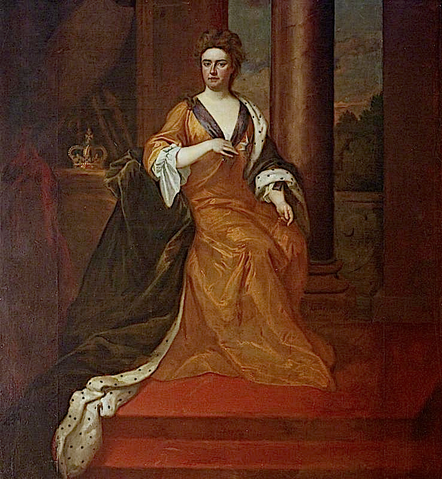 Queen Anne (1665–1714) by Godfrey Kneller (Wrest Park - Silsoe, Luton, Bedfordshire UK) from bbc.co