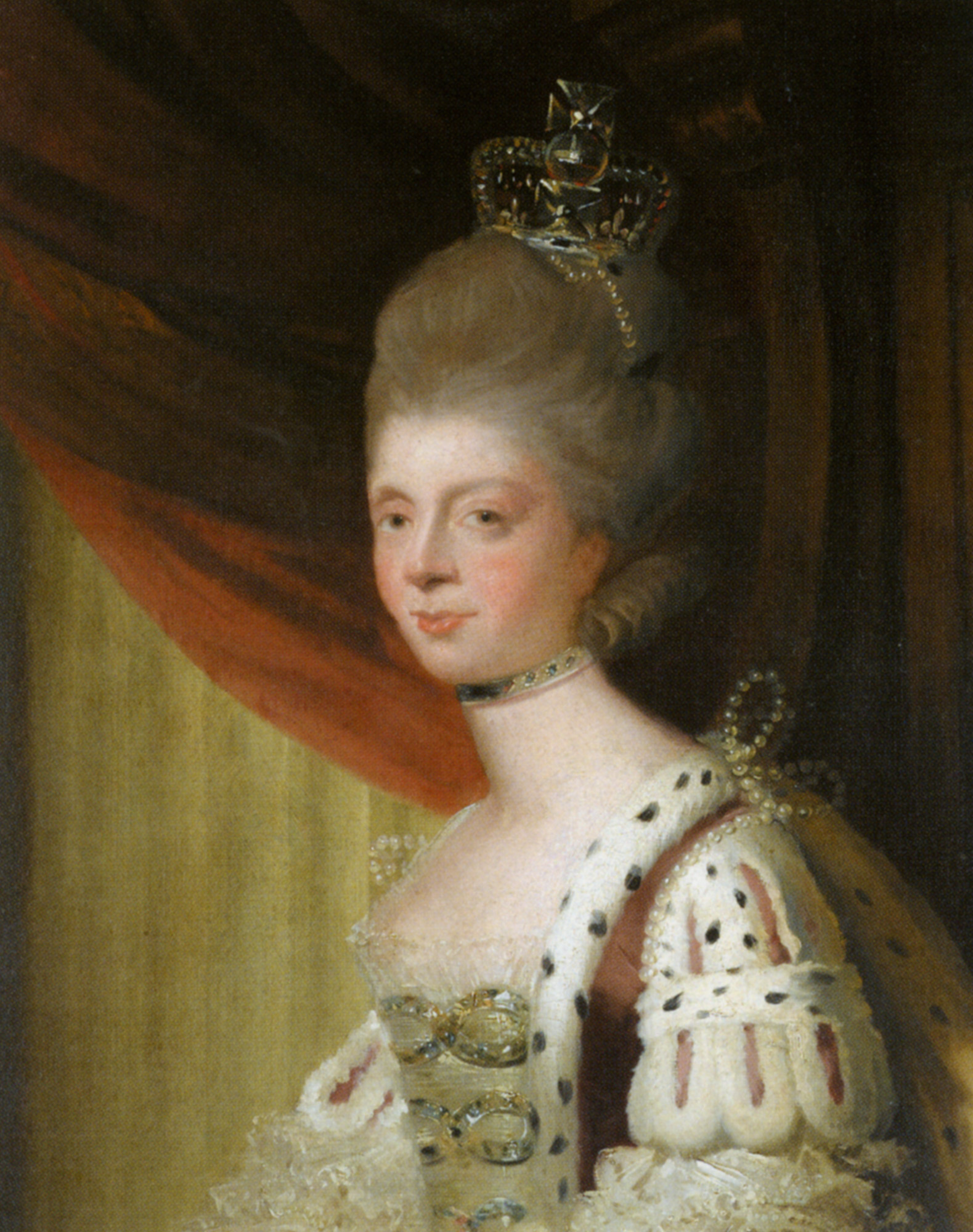 Queen charlotte by sir joshua reynolds private collection grand