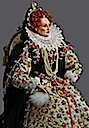 Queen Elizabeth Armada portrait figurine by Lady Finavon
