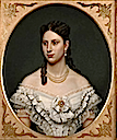 Queen Lovisa of Danmark oval portrait by Amalia Lindegren (location unknown to gogm)