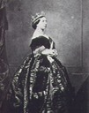1861 (14 November) Queen Victoria wearing regal circlet photo by Charles Clifford