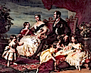 1846 Queen Victoria, Prince Albert, and family by Franz Xavier Winterhalter (Royal Collection)