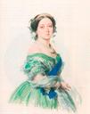 1855 Queen Victoria watercolor by Franz Xaver Winterhalter (Royal collection)
