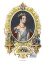 Queen Victoria color print