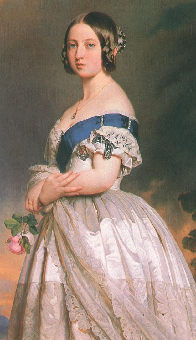 1842 Queen Victoria Wearing Sapphire Jewelry By Franz Xavier Winterhalter Versailles