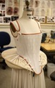 Reproduction of a French farthingale of Irish linen with grosgrain ribbon by Danielle Jordan - Costume Technologist From pinterest.com:pin:475622410624301849: