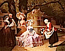 Retrospective of Marie-Antoinette and Louis XVI in the Garden by Joseph Caraud