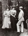 ca. 1893 Sandra (left) Missy (middle) and Ferdinand