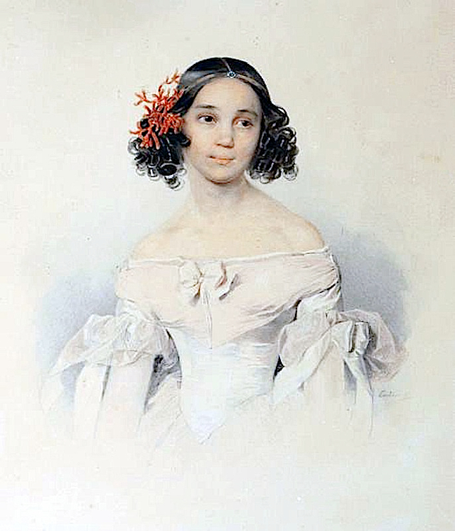 Sarra Tolstoy by Petr Fedorovich Sokolov (location unknown to gogm)