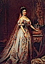 ca. 1867 Sisi in silver gilt gown and veil by Székely Bertalan (location unknown to gogm)