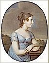 1815 Stephanie de Beauharnais-Baden wearing pale blue dress by Aloys Keßler after Johann Heinrich Schroeder (location unknown to gogm)