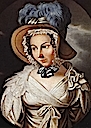 Stephanie de Beauharnais-Baden wearing a bonnet by ? (location unknown to gogm)