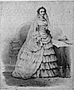 1853 The Empress Eugénie, famous for her elaborate toilettes wedding dress chestofbooks