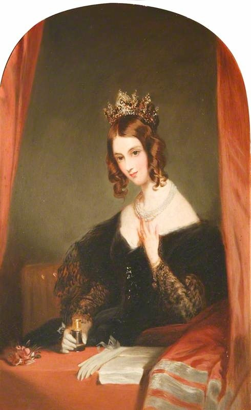 The Honourable Anne Elizabeth Weld-Forester (1802–1885), Countess of Chesterfield by Frederick Percy Graves after Edwin Henry Landseer (Hughenden Manor - High Wycombe, Buckinghamshire, UK) made lighter