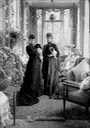 The sisters Dagmar and Alexandra with their companion animals at their villa, Hvidøre, in Denmark From pinterest.com:topics:european-history: X 1.5 trimmed