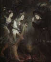The Three Witches from Macbeth (Elizabeth Lamb, Viscountess Melbourne; Georgiana, Duchess of Devonshire; Anne Seymour Damer) by Daniel Gardner